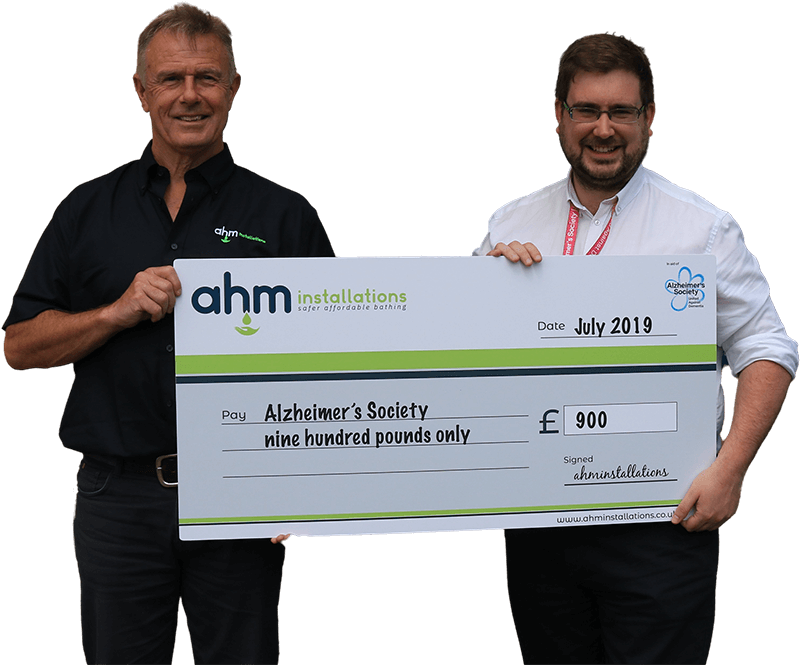 AHM charity cheque Welwyn Garden City